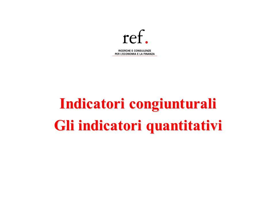 Indicatori congiunturali Gli indicatori quantitativi