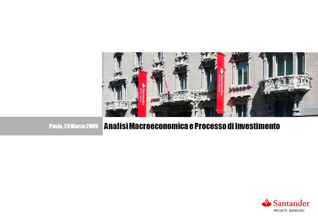 1 Pavia, 23 Marzo 2009 Analisi Macroeconomica e Processo di Investimento