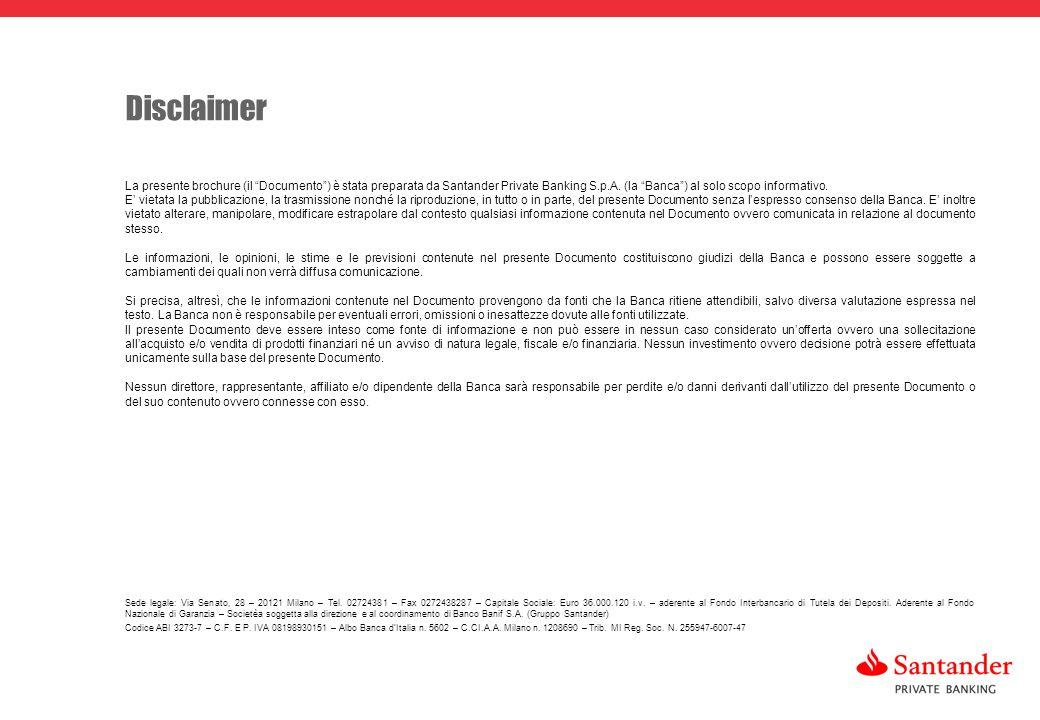 28 La presente brochure (il Documento) è stata preparata da Santander Private Banking S.p.A.