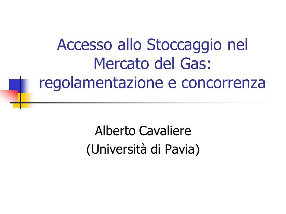 Outline La liberalizzazione del mercato del gas Separazione e regolamentazione dello stoccaggio La dottrina delle Essential Facilities (EF) Domanda e servizi di stoccaggio EF test Applicazione del test alle EF Conclusioni per il caso italiano.