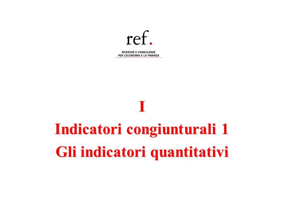 I Indicatori congiunturali 1 Gli indicatori quantitativi