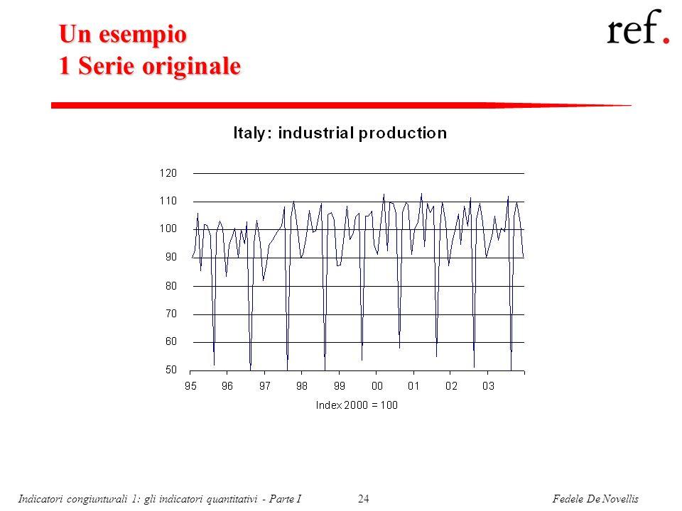 Fedele De NovellisIndicatori congiunturali 1: gli indicatori quantitativi - Parte I24 Un esempio 1 Serie originale