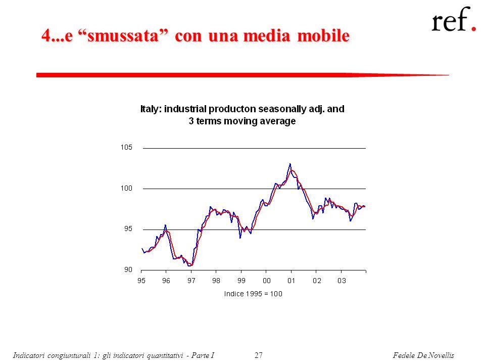Fedele De NovellisIndicatori congiunturali 1: gli indicatori quantitativi - Parte I27 4...e smussata con una media mobile