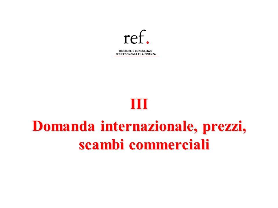 III Domanda internazionale, prezzi, scambi commerciali