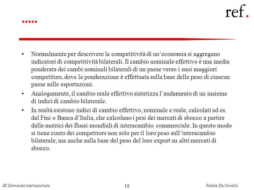 Fedele De NovellisIII Domanda internazionale 18.....