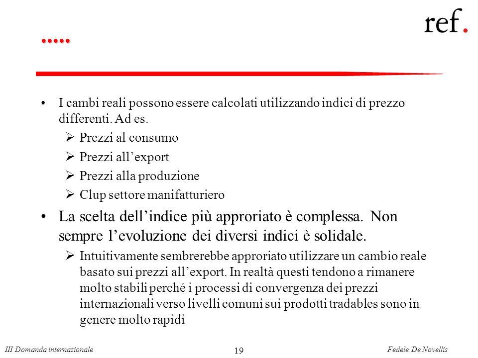 Fedele De NovellisIII Domanda internazionale 19.....