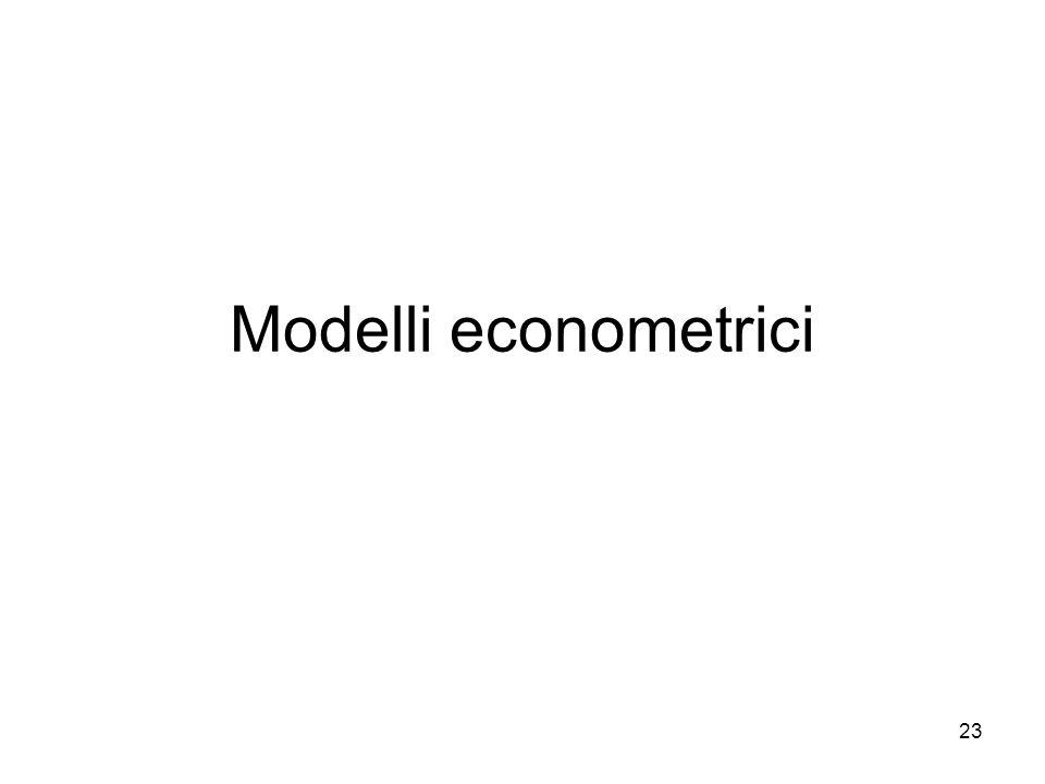 23 Modelli econometrici
