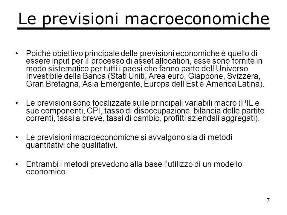 8 Le previsioni macroeconomiche N.B.