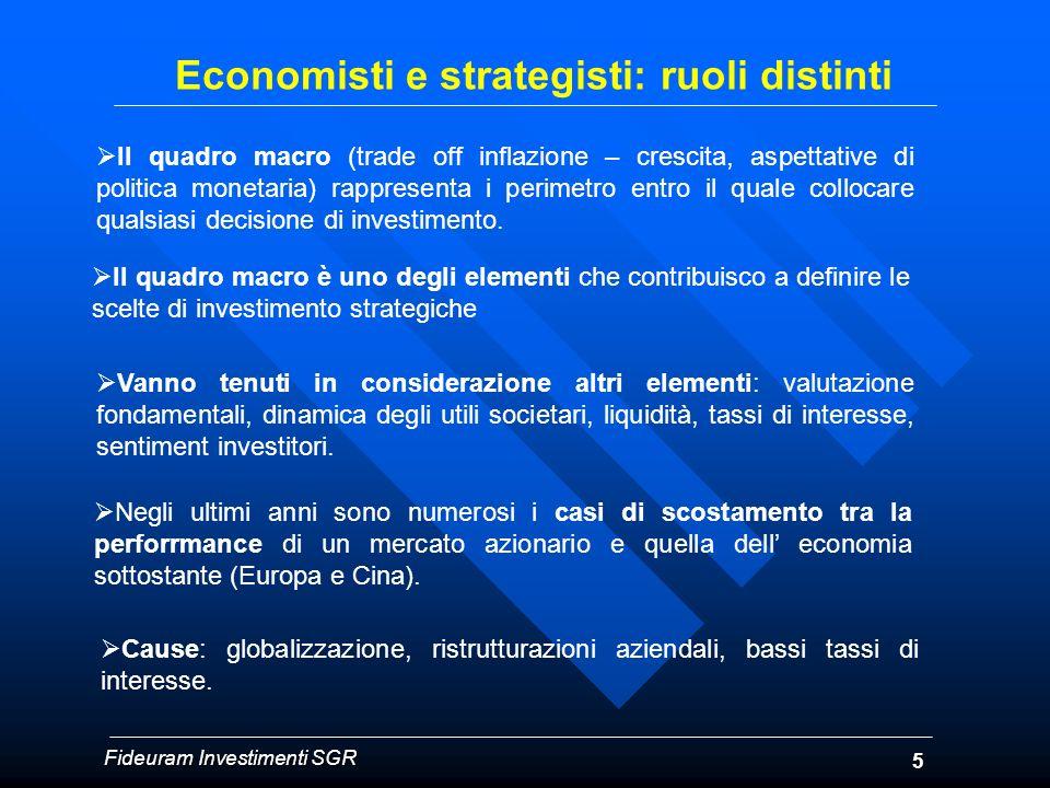 5 Economisti e strategisti: ruoli distinti Il quadro macro è uno degli elementi che contribuisco a definire le scelte di investimento strategiche Vann