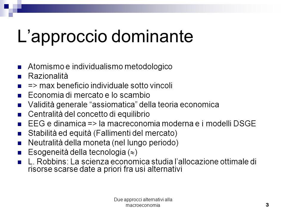 Due approcci alternativi alla macroeconomia24 La Crisi Finanziaria: presente e passato Caduta della borsa (da picco a picco)