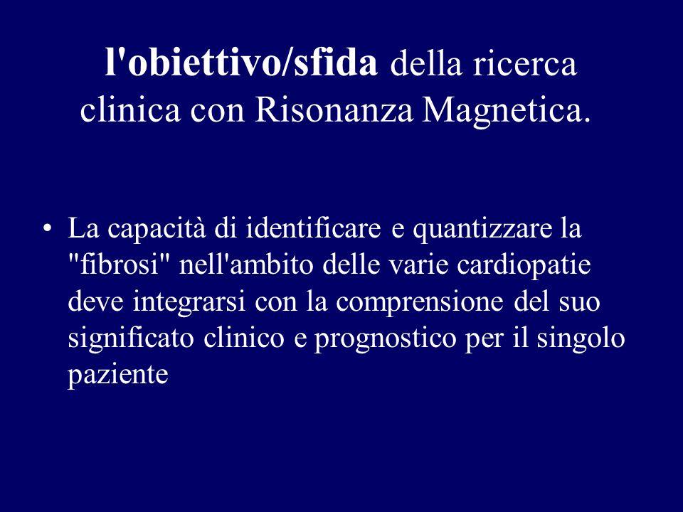 l'obiettivo/sfida della ricerca clinica con Risonanza Magnetica. La capacità di identificare e quantizzare la