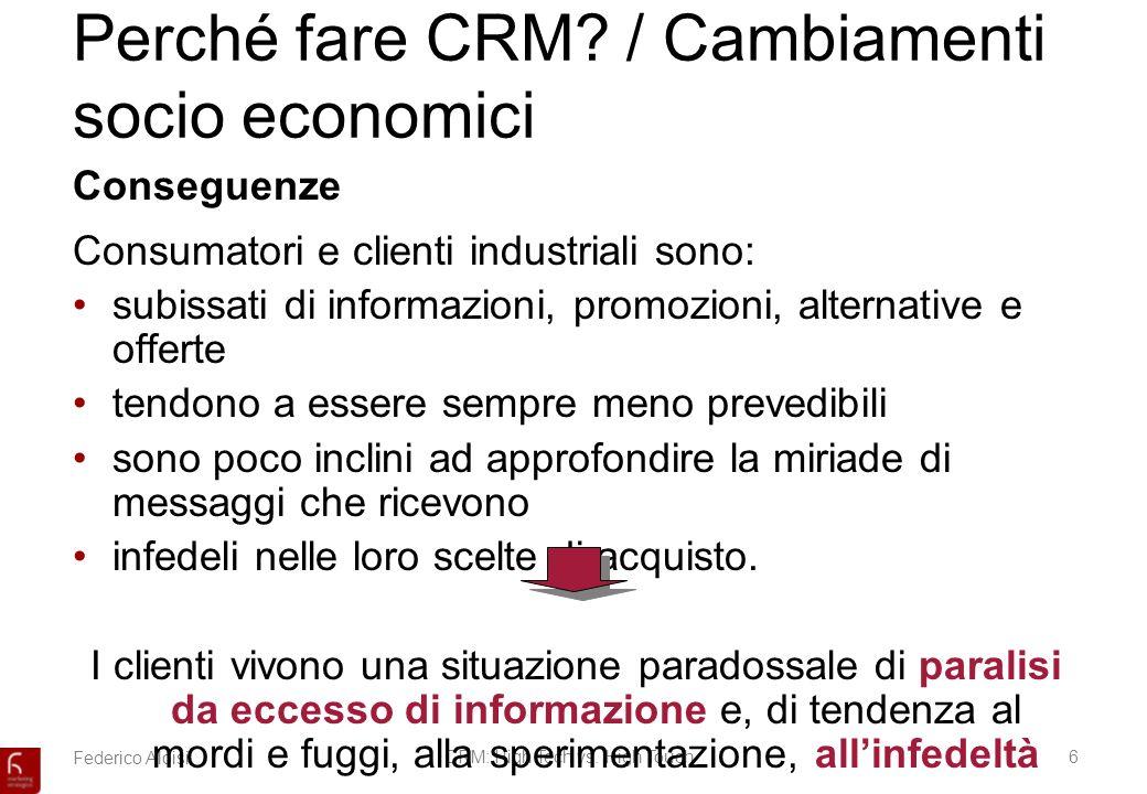 Federico AloisiCRM: High Tech vs.High Touch6 Perché fare CRM.