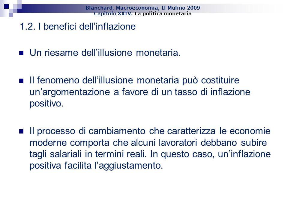 Blanchard, Macroeconomia, Il Mulino 2009 Capitolo XXIV. La politica monetaria 13 Un riesame dellillusione monetaria. Il fenomeno dellillusione monetar