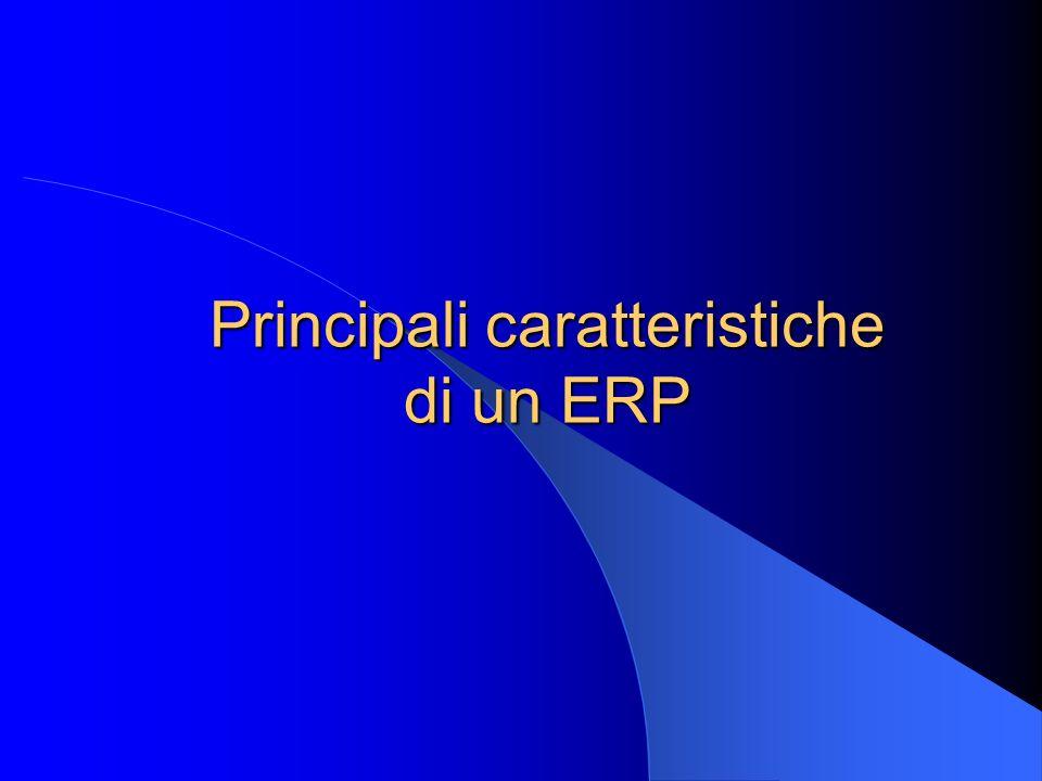 Principali caratteristiche di un ERP