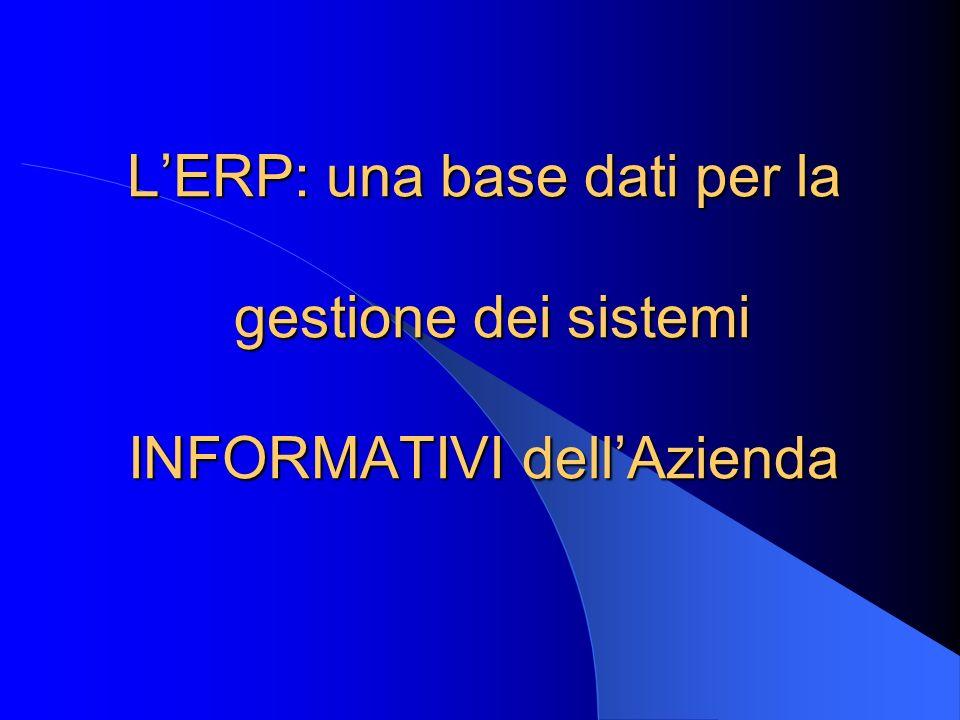 LERP: una base dati per la gestione dei sistemi INFORMATIVI dellAzienda