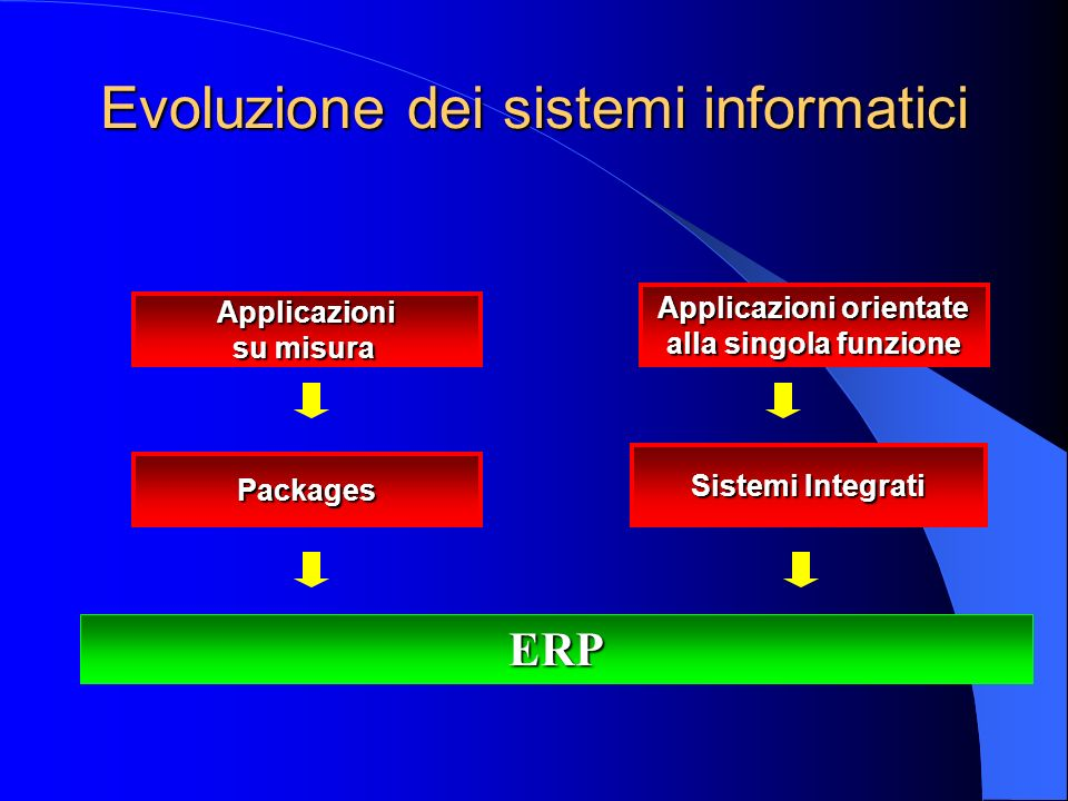 Planning: Tempi, Luoghi, Quantità Enterprise: Gruppo / Azienda Resource: Persone, Materiali, Impianti, Capitale Enterprise Resource Planning - ERP Pianificazione delle Risorse dImpresa