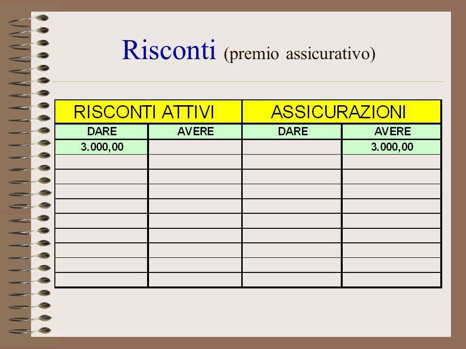 Risconti (premio assicurativo)