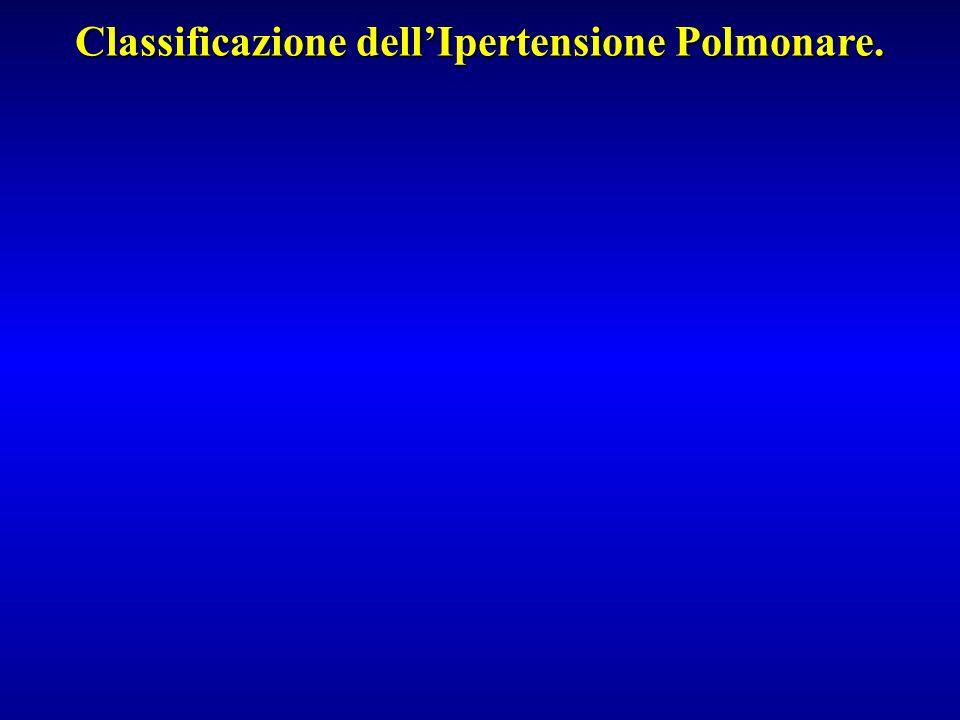 Classificazione dellIpertensione Polmonare.