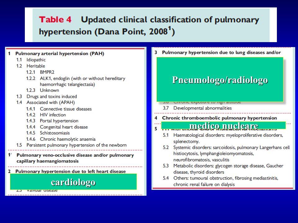 cardiologo Pneumologo/radiologoPneumologo/radiologo medico nucleare