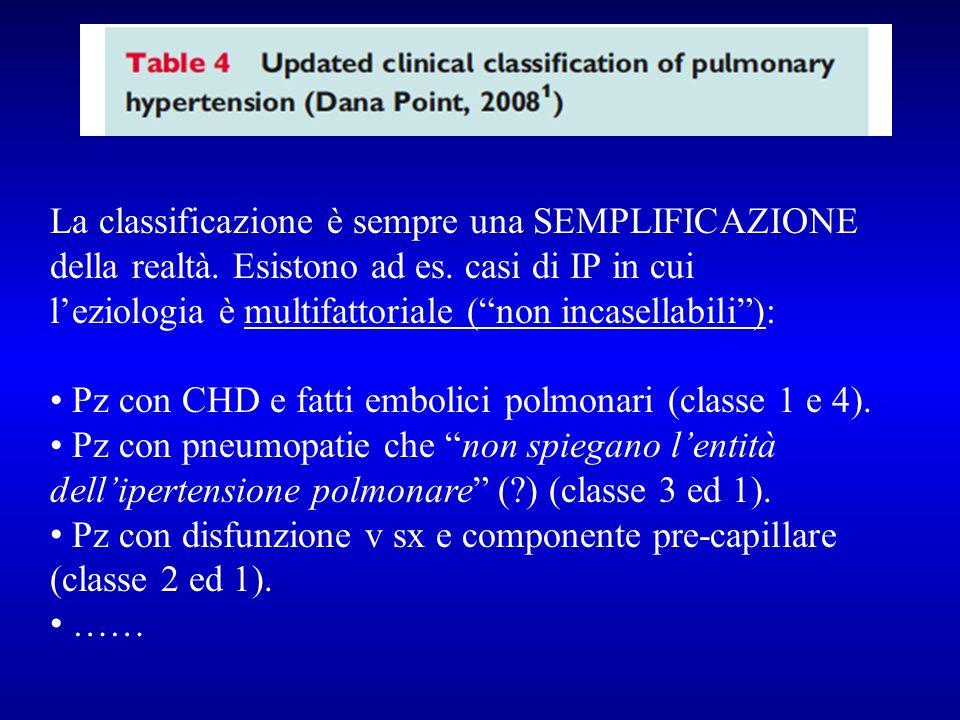 La classificazione è sempre una SEMPLIFICAZIONE della realtà. Esistono ad es. casi di IP in cui leziologia è multifattoriale (non incasellabili): Pz c