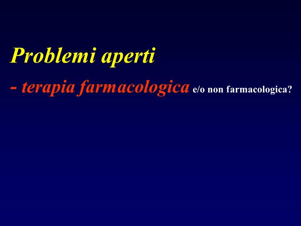 Problemi aperti - terapia farmacologica e/o non farmacologica?