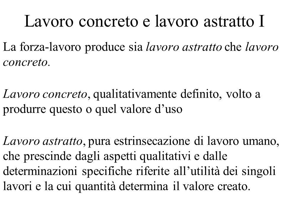 Saggio di sfruttamento II Il capitale variabile (V) è dato dai beni salario che remunerano la forza lavoro del lavoratore.