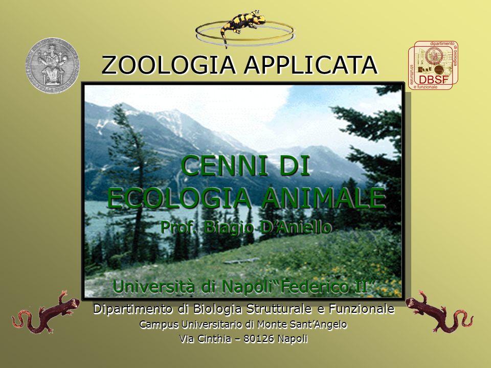 Università Federico II di Napoli Cenni ecologia animale CENNI DI ECOLOGIA ANIMALE Prof. Biagio DAniello CENNI DI ECOLOGIA ANIMALE Prof. Biagio DAniell