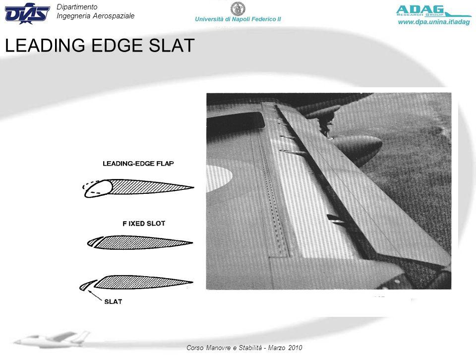 Dipartimento Ingegneria Aerospaziale Corso Manovre e Stabilità - Marzo 2010 LEADING EDGE SLAT