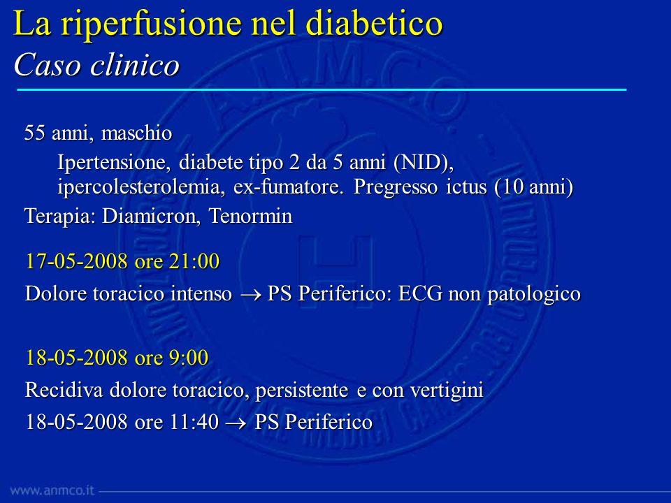 17-05-2008 ore 21:00 Dolore toracico intenso PS Periferico: ECG non patologico 18-05-2008 ore 9:00 Recidiva dolore toracico, persistente e con vertigi