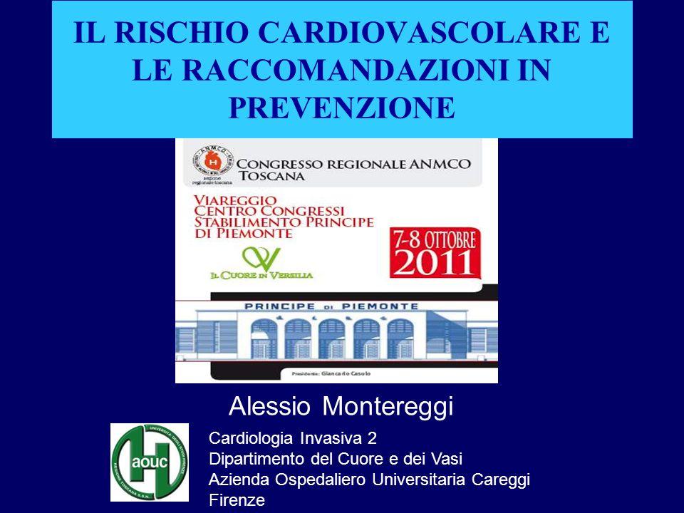 Fattori di rischio in Toscana Atlante Italiano delle Malattie Cardiovascolari, II edizione, Ital Heart J 2004;5(suppl.3):49S-92S Ipertensione Ipercolesterolemia Il 28% degli U e il 26% delle D è iperteso; il 20% degli U e il 11% delle D è in una condizione a rischio (PAS compresa fra 140 e 159 mmHg o PAD compreso fra 90 e 95 mmHg).