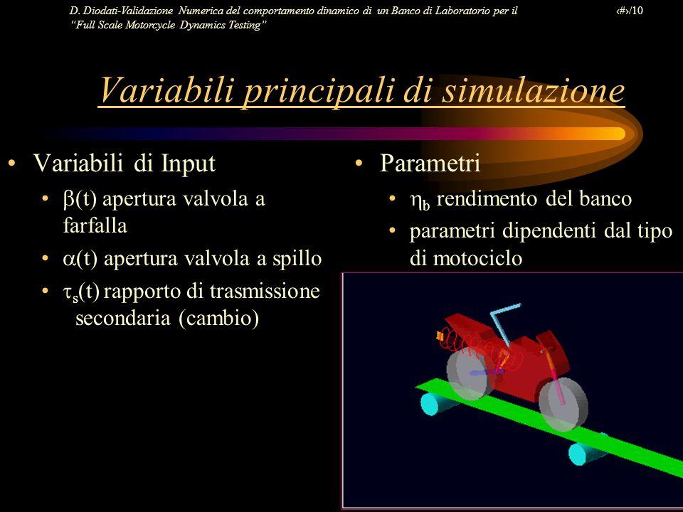 D. Diodati-Validazione Numerica del comportamento dinamico di un Banco di Laboratorio per il Full Scale Motorcycle Dynamics Testing 8/10 Variabili pri