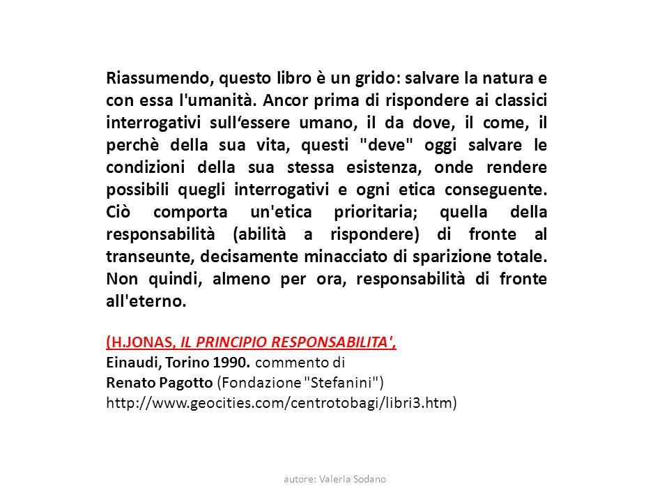 autore: Valeria Sodano Riassumendo, questo libro è un grido: salvare la natura e con essa l umanità.