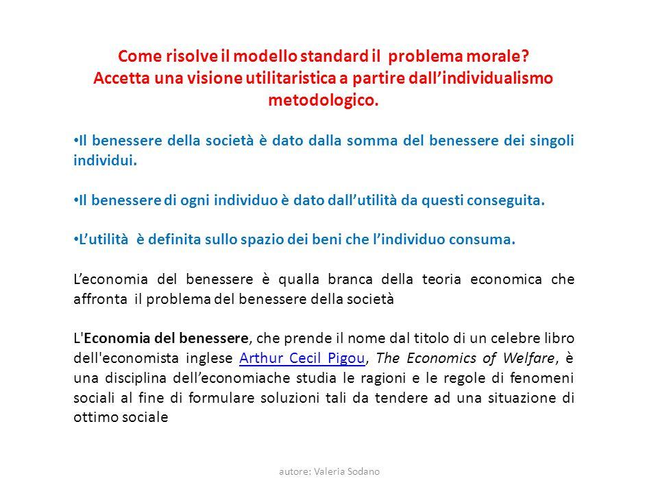 autore: Valeria Sodano Come risolve il modello standard il problema morale.