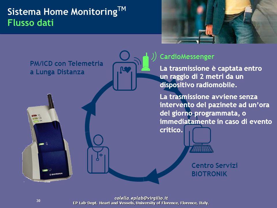 31 Sistema Home Monitoring TM Flusso dati PM/ICD con Telemetria a Lunga Distanza Il CardioMessenger lavora sulla rete di telefonia mobile GSM, triband.