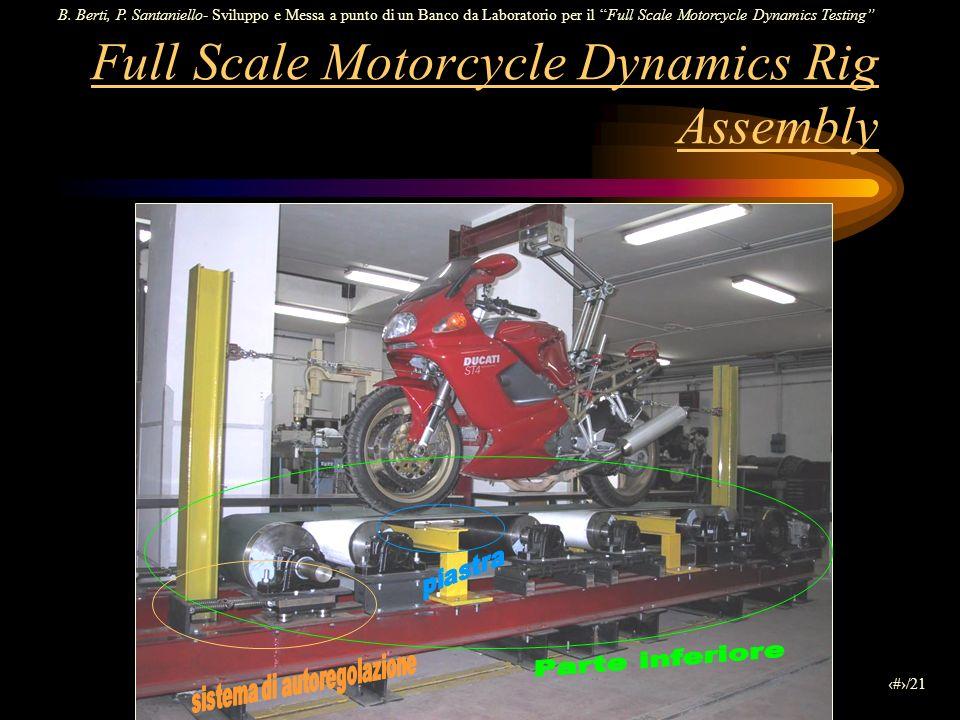 B. Berti, P. Santaniello- Sviluppo e Messa a punto di un Banco da Laboratorio per il Full Scale Motorcycle Dynamics Testing 4/21 Full Scale Motorcycle