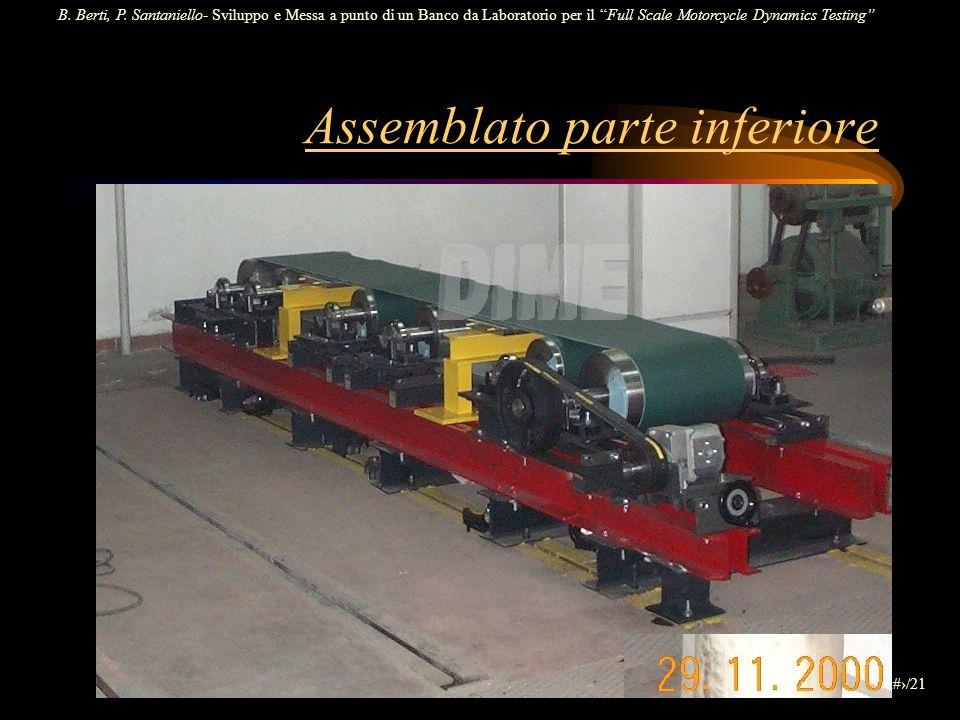 B. Berti, P. Santaniello- Sviluppo e Messa a punto di un Banco da Laboratorio per il Full Scale Motorcycle Dynamics Testing 5/21 Assemblato parte infe