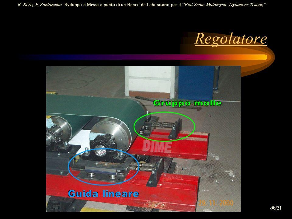 B. Berti, P. Santaniello- Sviluppo e Messa a punto di un Banco da Laboratorio per il Full Scale Motorcycle Dynamics Testing 8/21 Regolatore