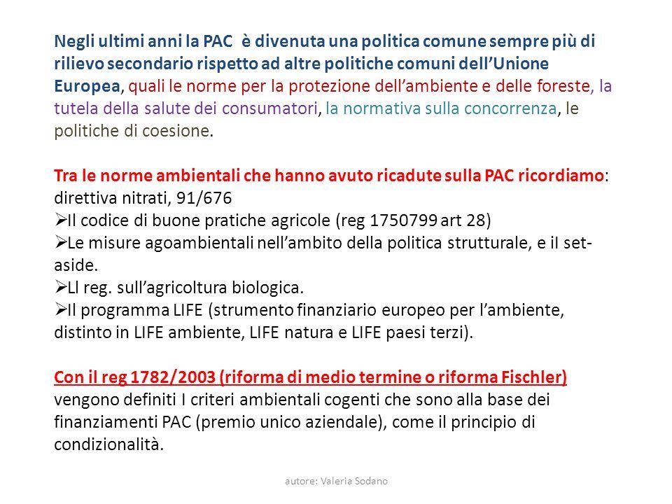 autore: Valeria Sodano La politica ambientale europea comprende la difesa del suolo, la preservazione delle acque dolci, la purezza dellaria.