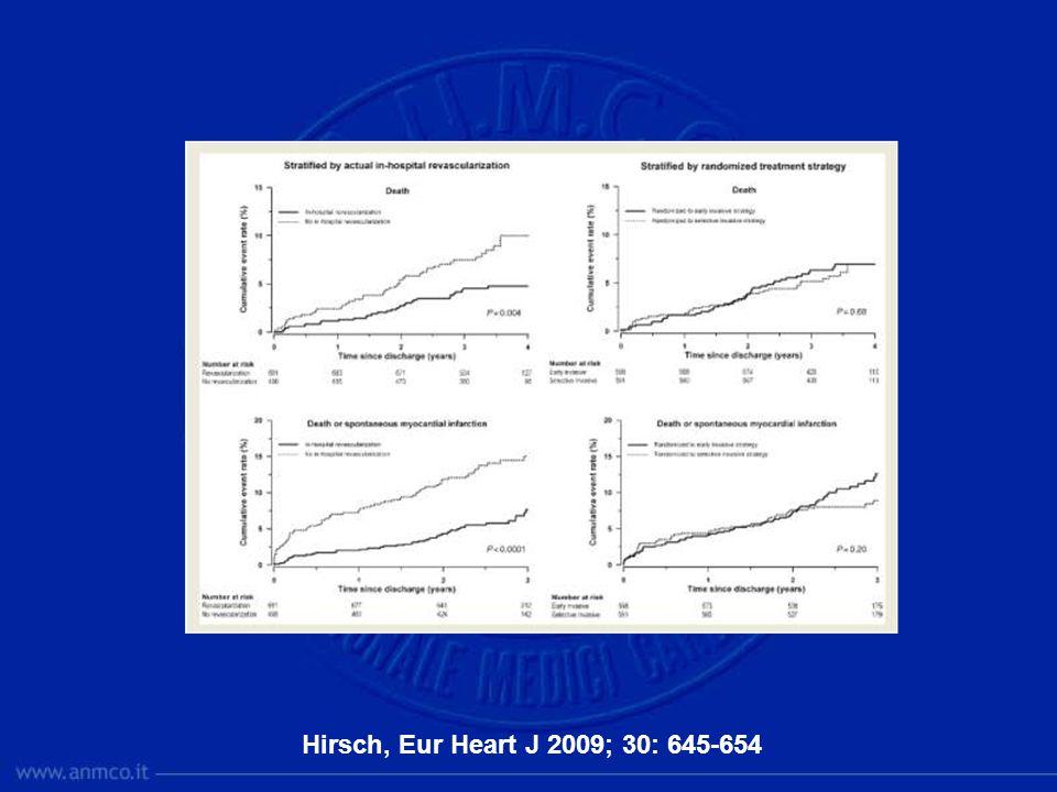 Hirsch, Eur Heart J 2009; 30: 645-654