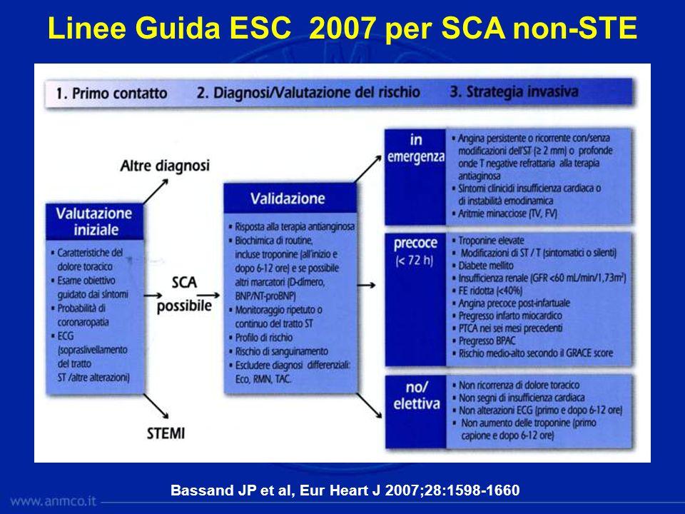 Linee Guida ESC 2007 per SCA non-STE Bassand JP et al, Eur Heart J 2007;28:1598-1660