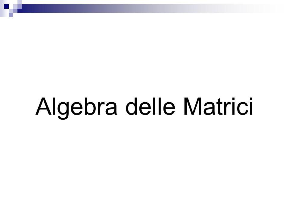 Algebra delle Matrici