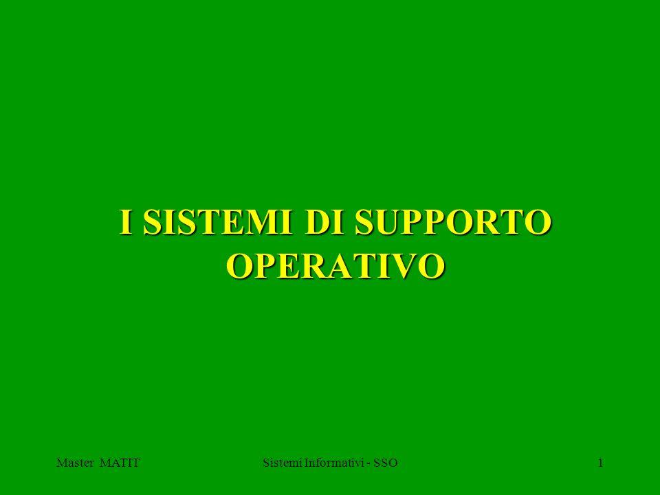 Master MATITSistemi Informativi - SSO1 I SISTEMI DI SUPPORTO OPERATIVO