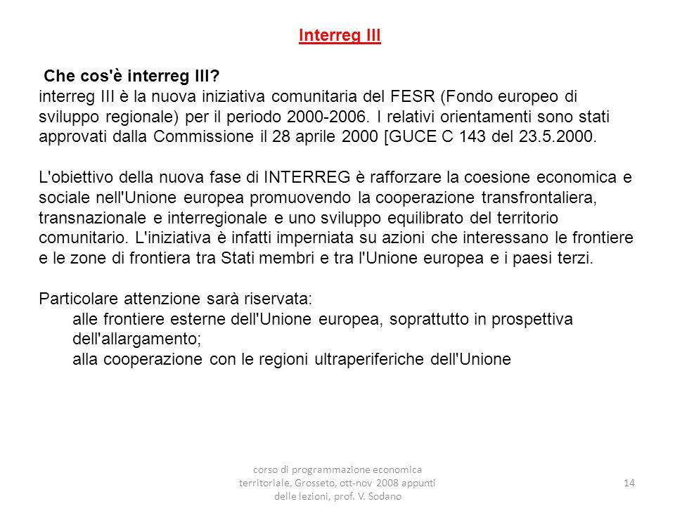 Interreg III Che cos è interreg III.