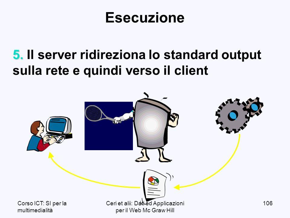 Corso ICT: SI per la multimedialità Ceri et alii: Dati ed Applicazioni per il Web Mc Graw Hill 106 Esecuzione 5.