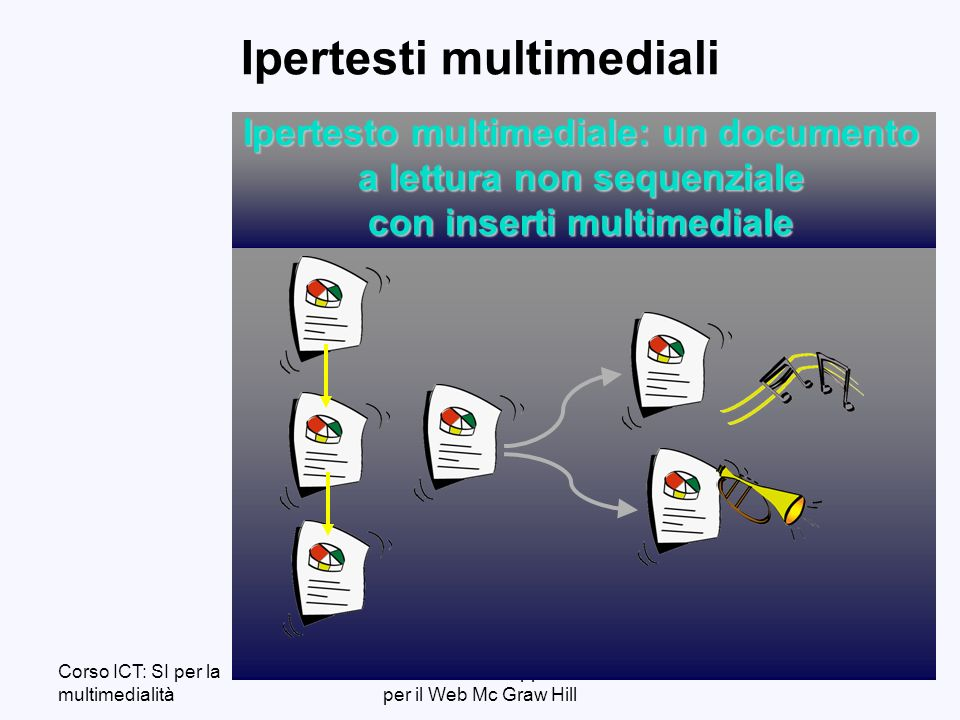 Corso ICT: SI per la multimedialità Ceri et alii: Dati ed Applicazioni per il Web Mc Graw Hill 7 Definizione di WWW Web: un sistema client-server su Internet per laccesso a ipertesti multimedialirichiesta risposta client server