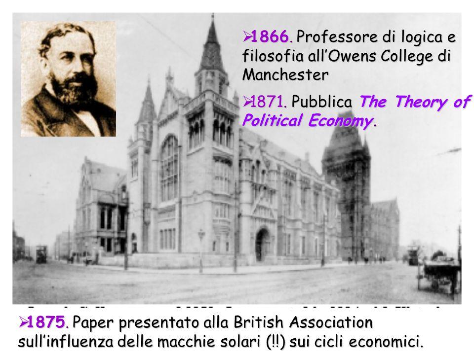 1866. Professore di logica e filosofia allOwens College di Manchester 1866. Professore di logica e filosofia allOwens College di Manchester 1871. Pubb