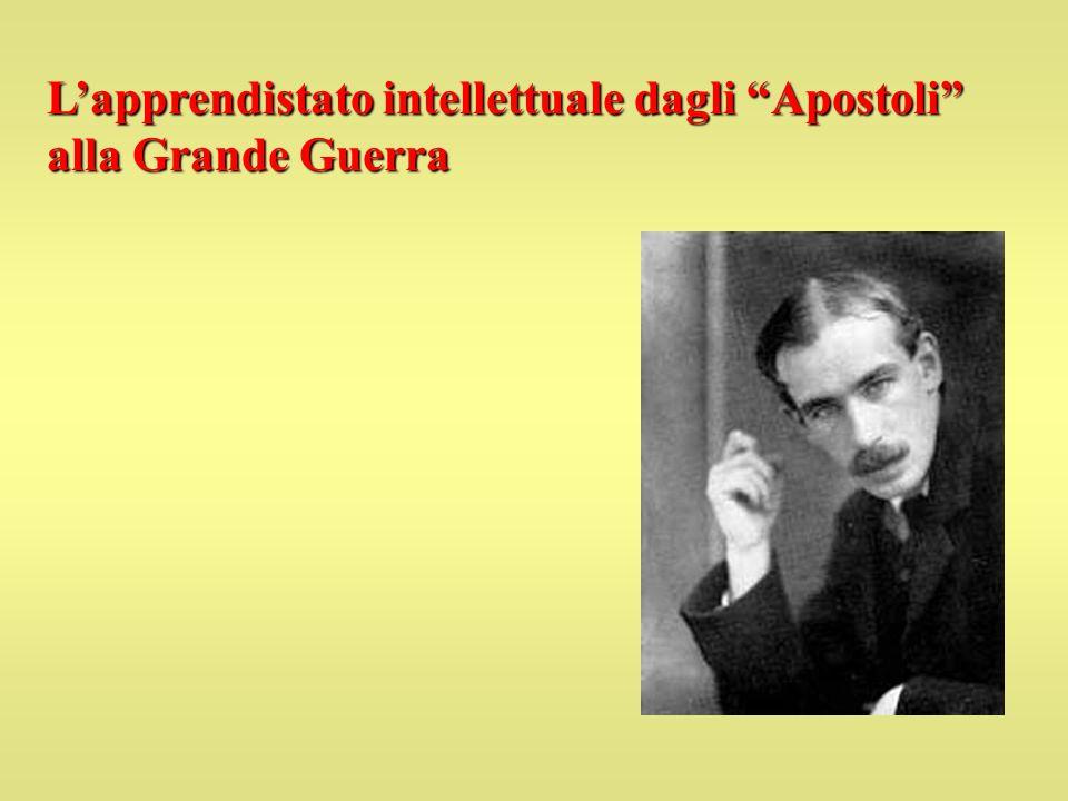 Lapprendistato intellettuale dagli Apostoli alla Grande Guerra
