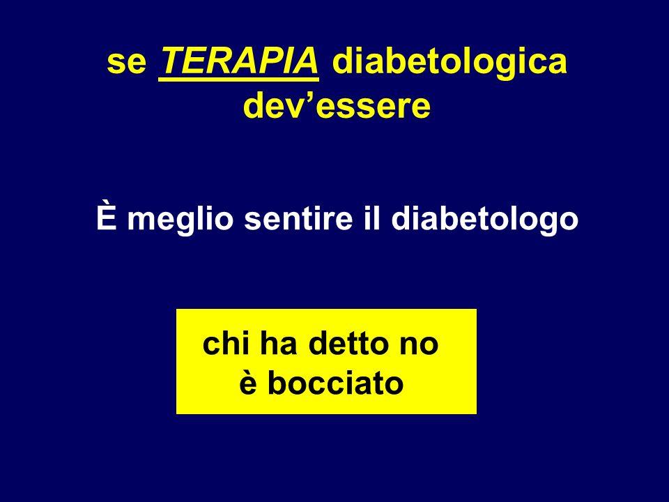 se TERAPIA diabetologica devessere È meglio sentire il diabetologo chi ha detto no è bocciato