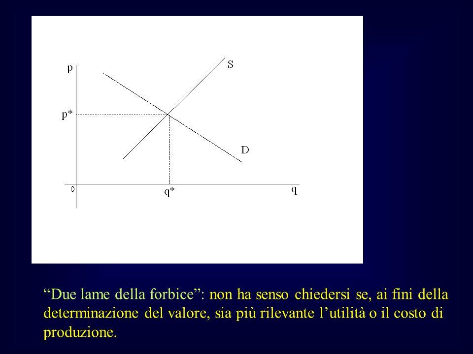 Due lame della forbice: non ha senso chiedersi se, ai fini della determinazione del valore, sia più rilevante lutilità o il costo di produzione.