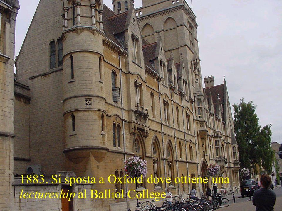1885: cattedra di economia politica a Cambridge.